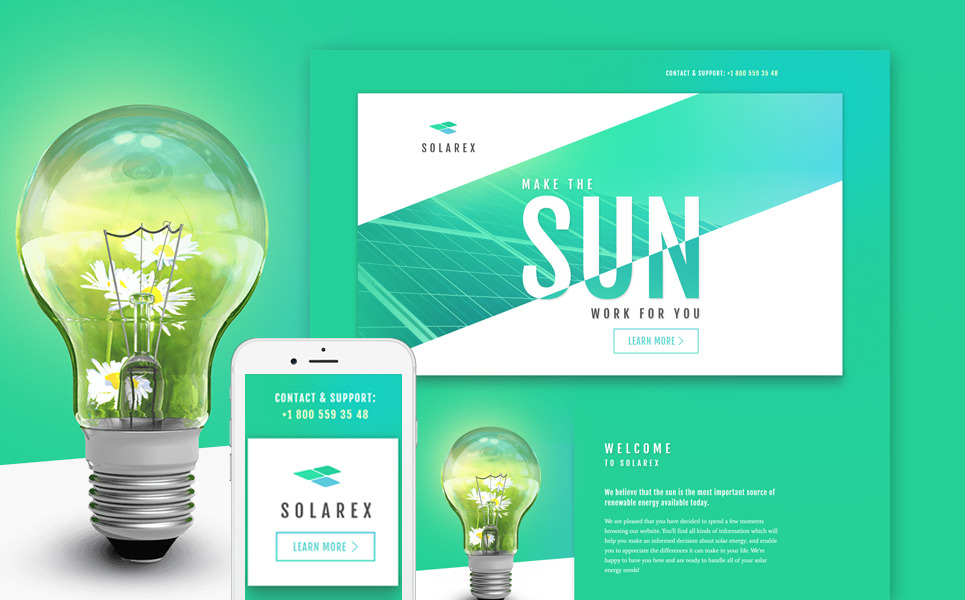 Solar Energy Responsive Landing Page Template New Screenshots BIG