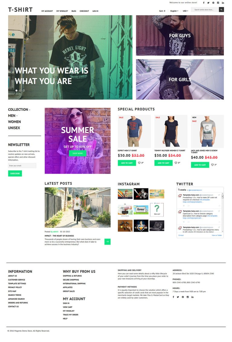 T-Shirt Magento Theme New Screenshots BIG
