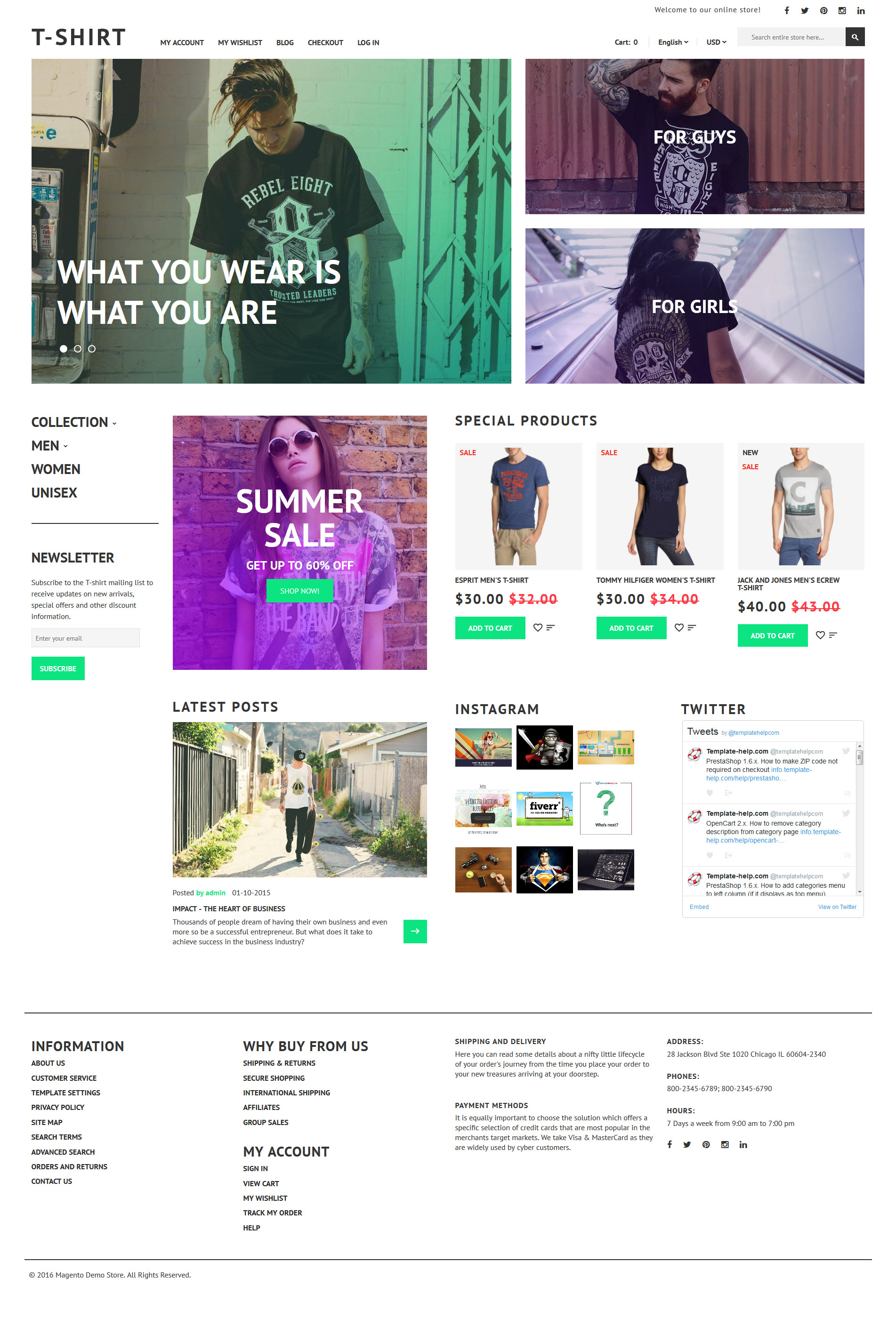 T-Shirt Magento Theme - screenshot