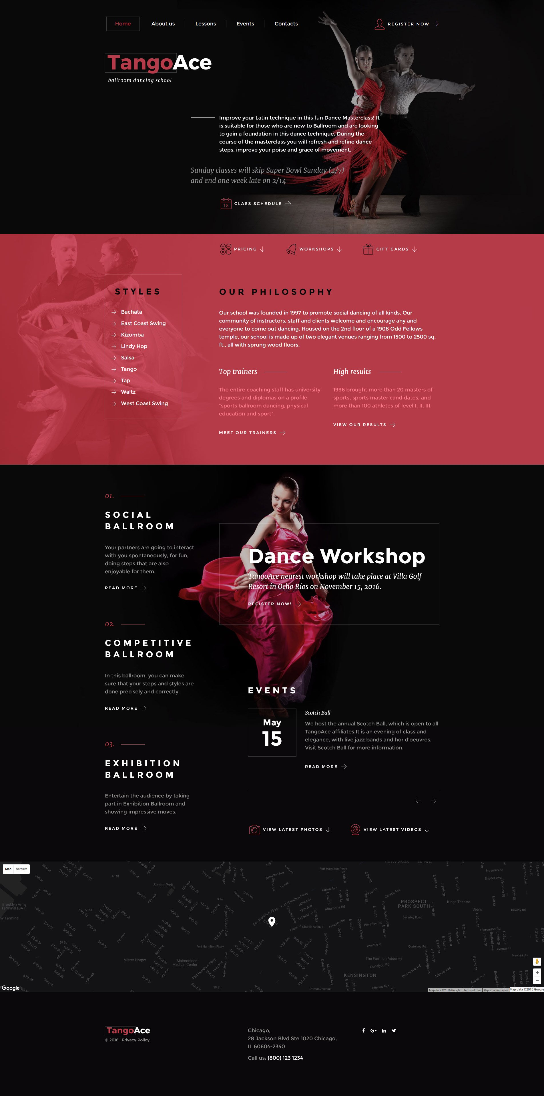 Dance Academy Website Template