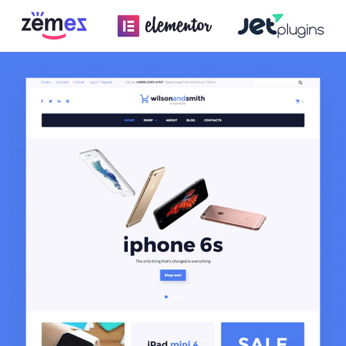 Wilson and Smith - Responsive WooCommerce Template