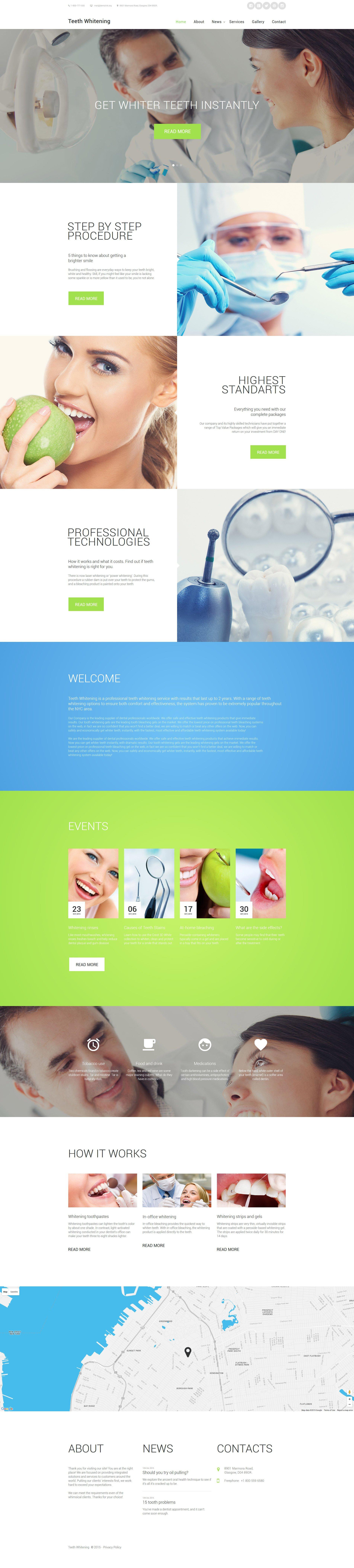 """Teeth Whitening"" modèle web adaptatif #58563"