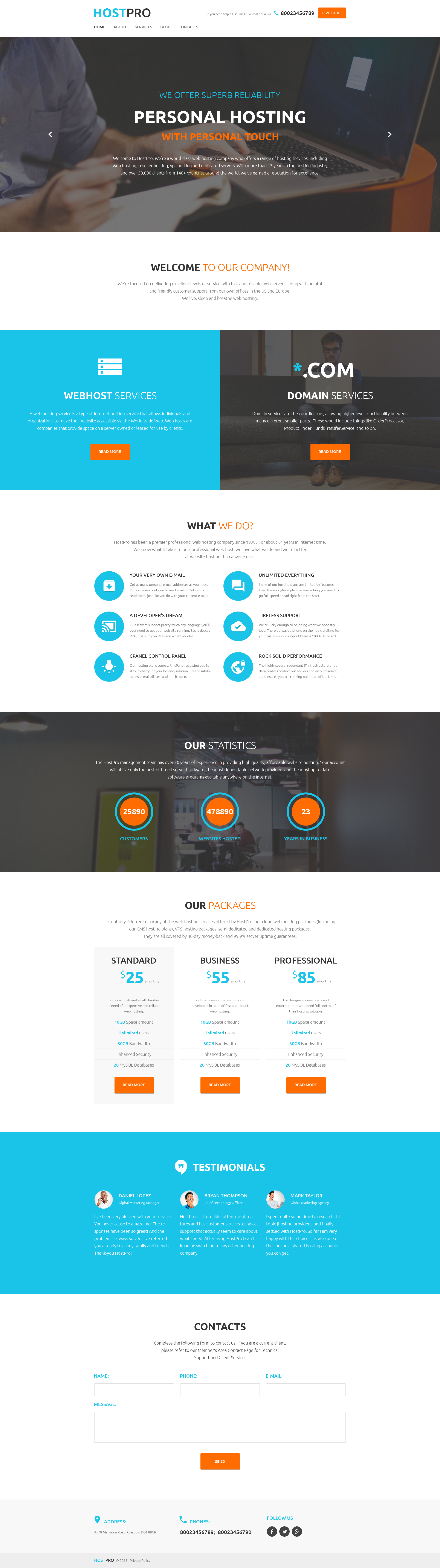 """Tema De WordPress """"HostPro"""" #58537 - captura de pantalla"""