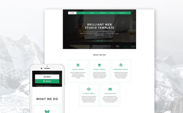 Tema de WordPress #58593 para Sitio de Diseño Web