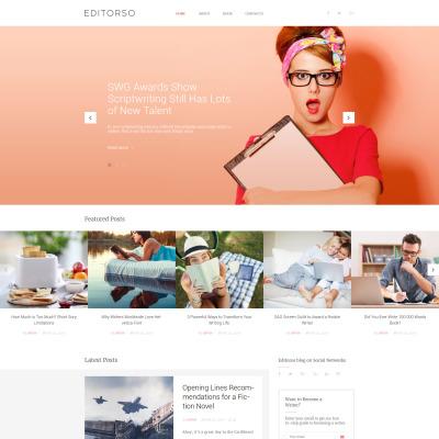 Tema de WordPress #67869 para Sitio de Escritores/Autores