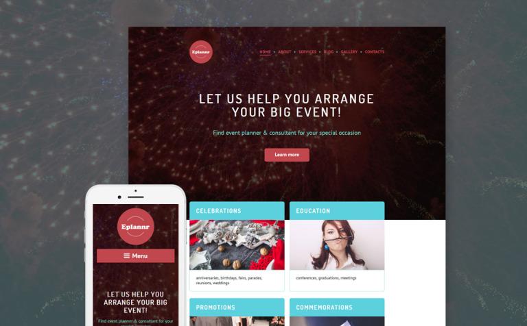 Tema de WordPress #58523 para Sitio de Organización de eventos