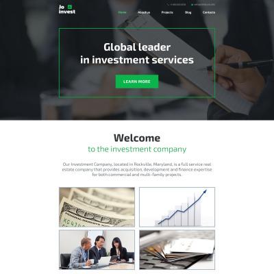 Responsive Tema De WordPress #58591 para Sitio de  para Sitio de Sociedades de inversión