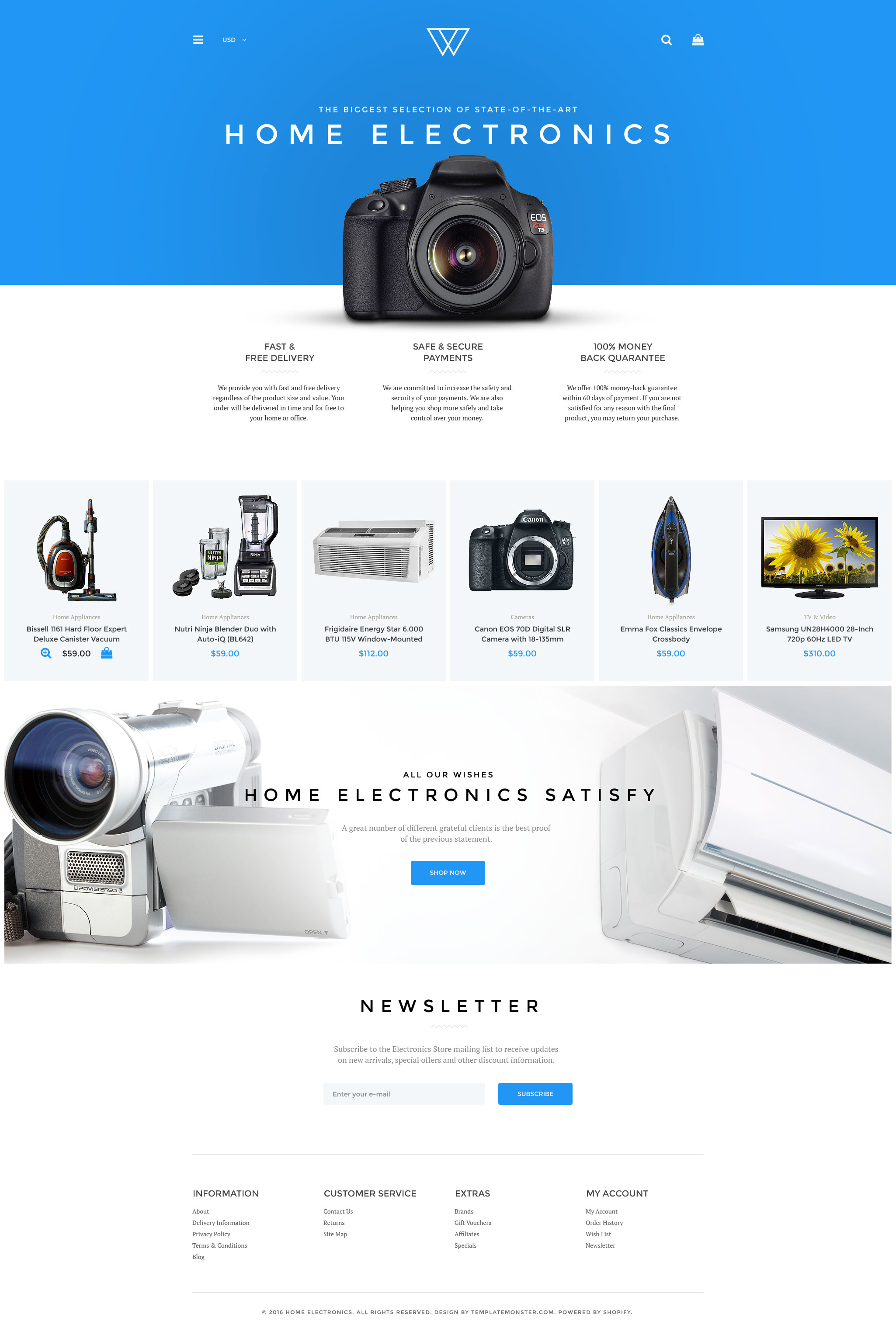 """Tema Shopify """"Electrodomésticos - Muestra Gratis"""" #58579"""