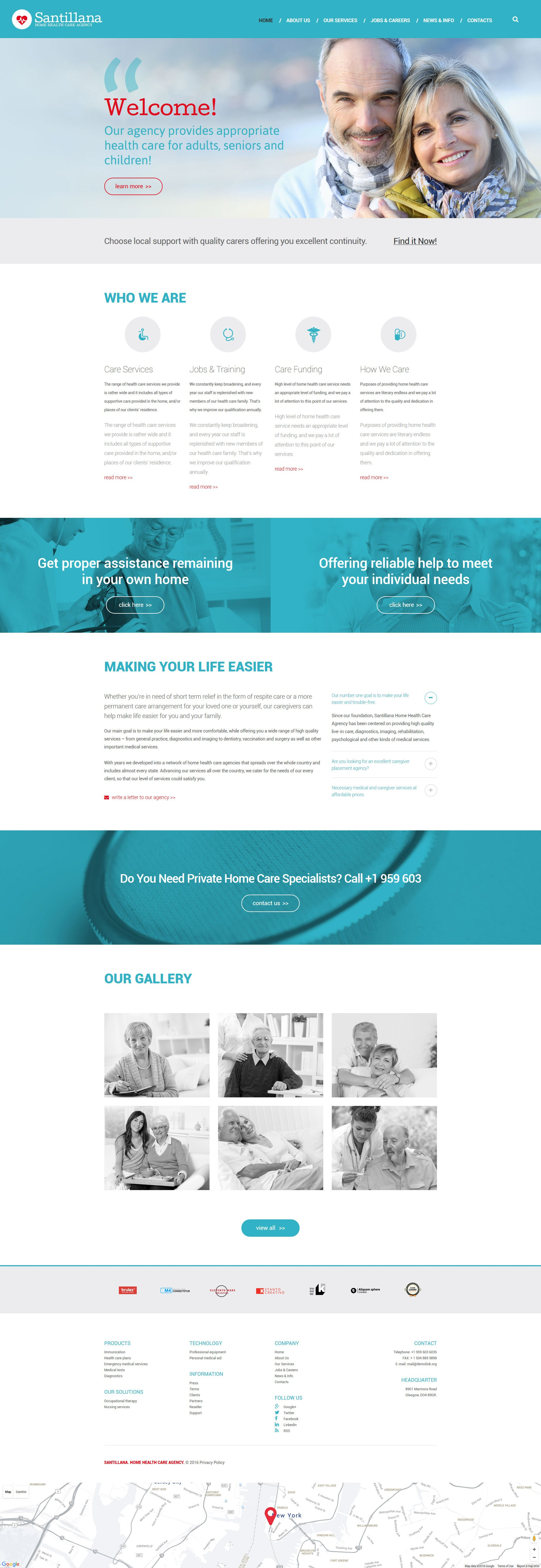 "Template Drupal #58564 ""Home Health Care Agency"""