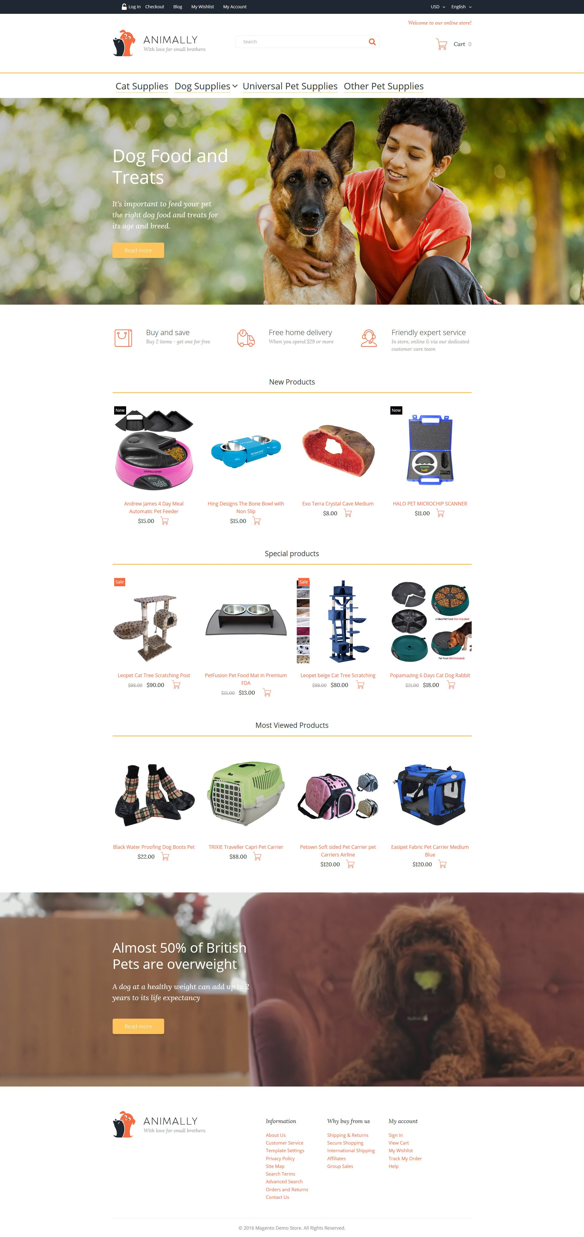 "Template Magento Responsive #58510 ""Animally"""