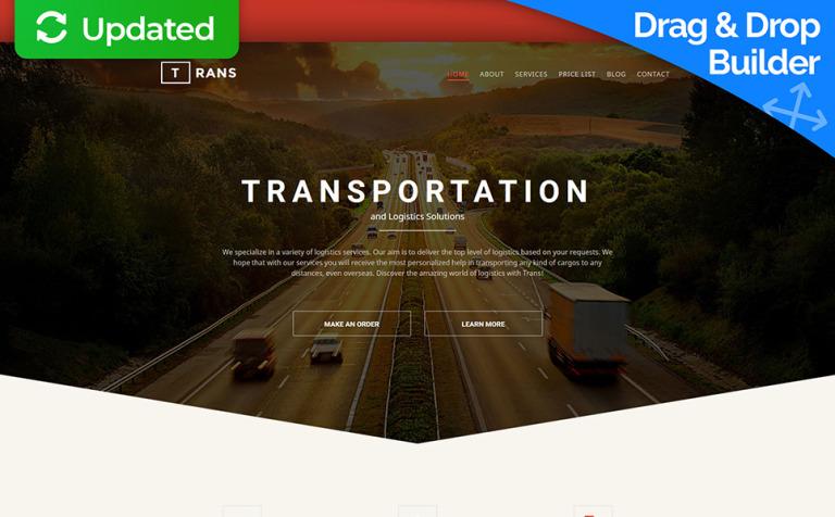 Transportation Responsive Moto CMS 3 Template #58552