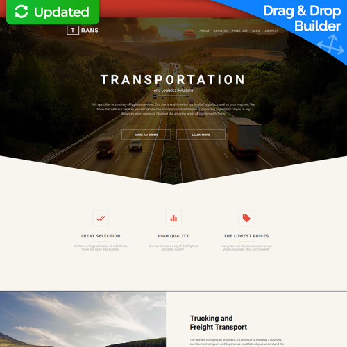 Trans - MotoCMS 3 Template based on Bootstrap
