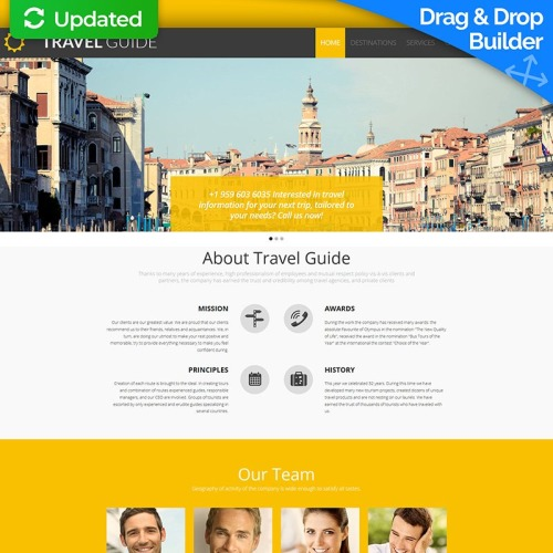 Travel Guide - MotoCMS 3 Template based on Bootstrap