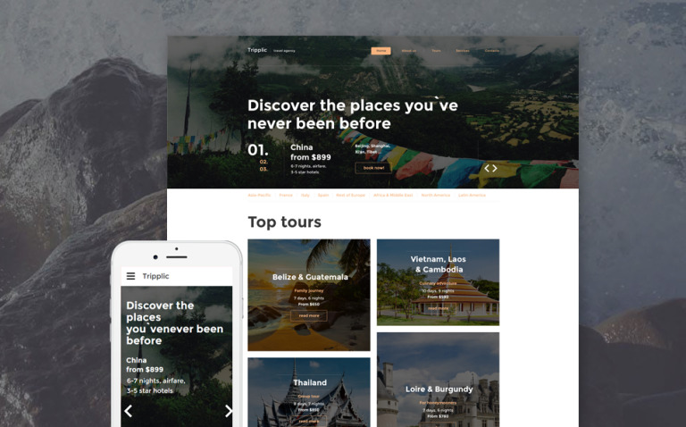 Tripplic Website Template New Screenshots BIG