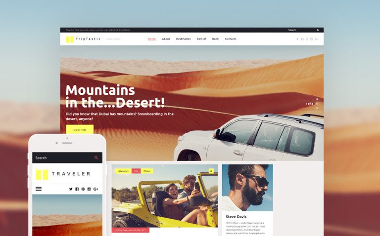 TripTastic - Travel Blog WordPress Theme New Screenshots BIG