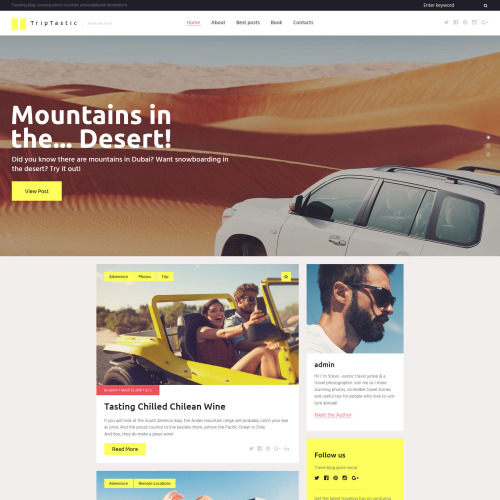 TripTastic  - Responsive WordPress Template