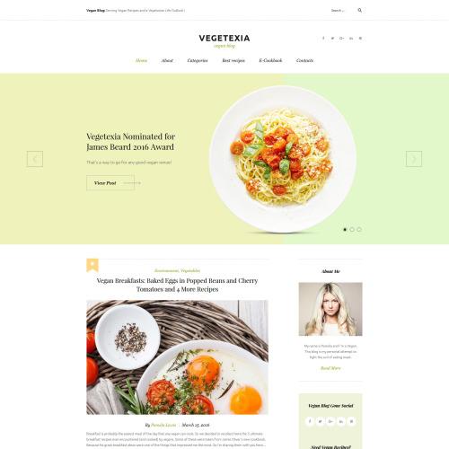 Vegetexia - Responsive WordPress Template