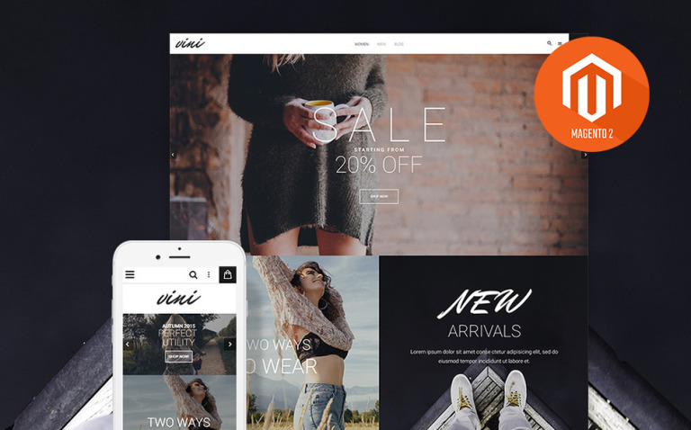 Vini - Fashion shop Magento 2 Theme New Screenshots BIG