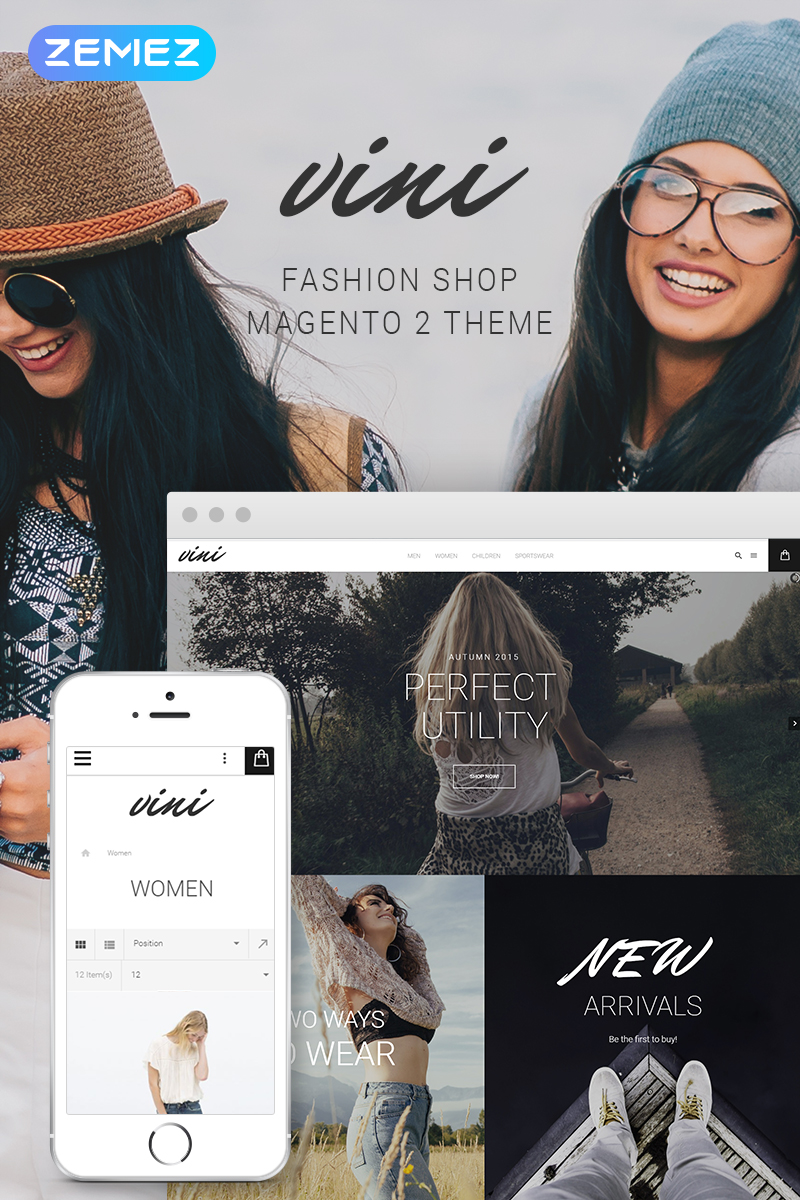 Vini - Fashion Shop Magento Theme - screenshot