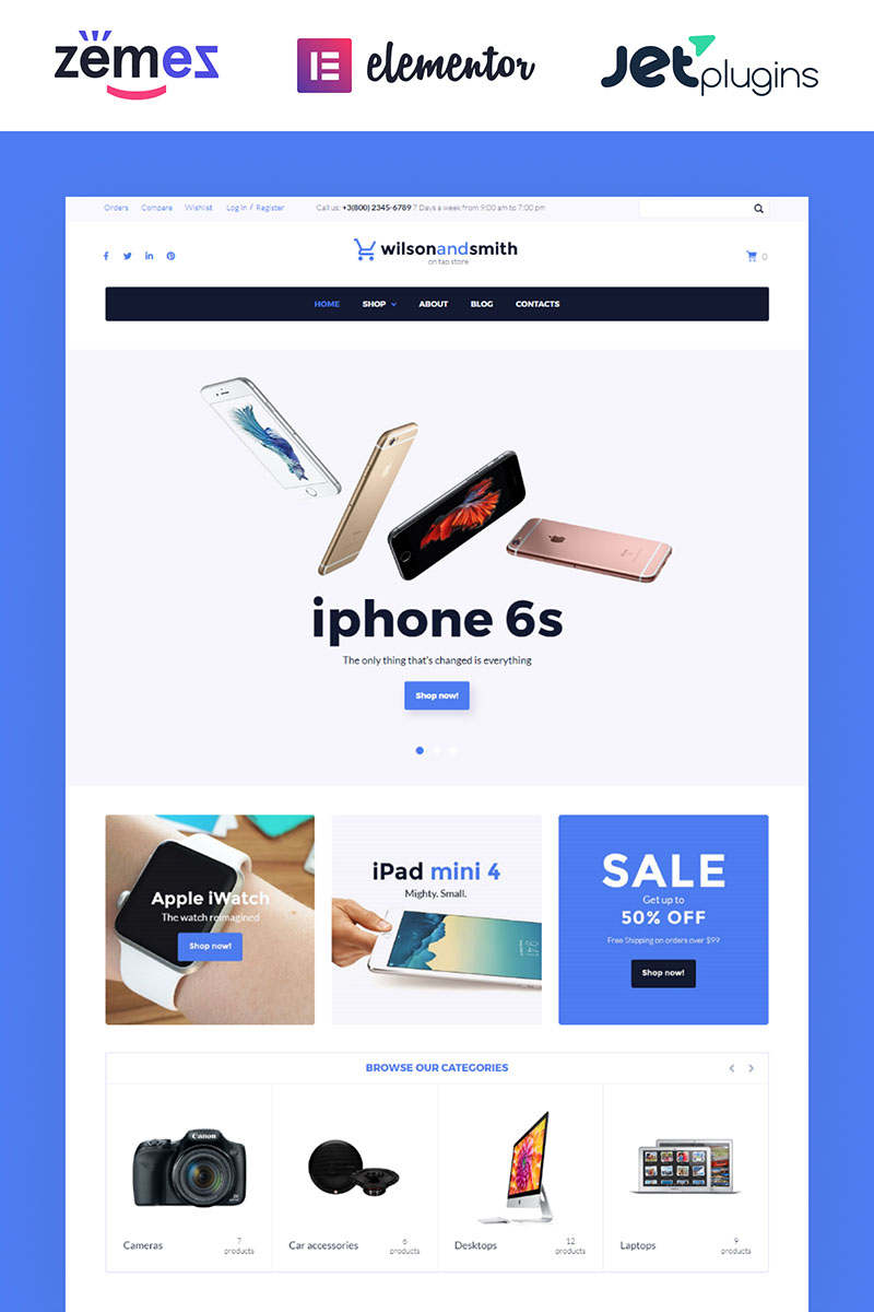 "WooCommerce Theme namens ""Tech Gadget"" #58569 - Screenshot"