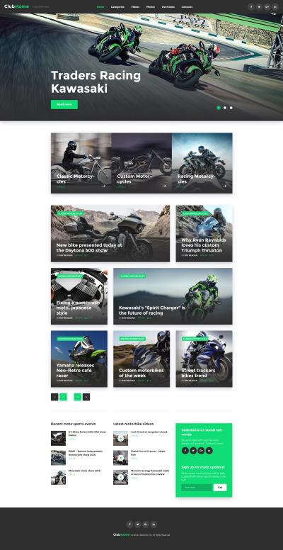 Адаптивный WordPress шаблон №58571 на тему мотоспорт