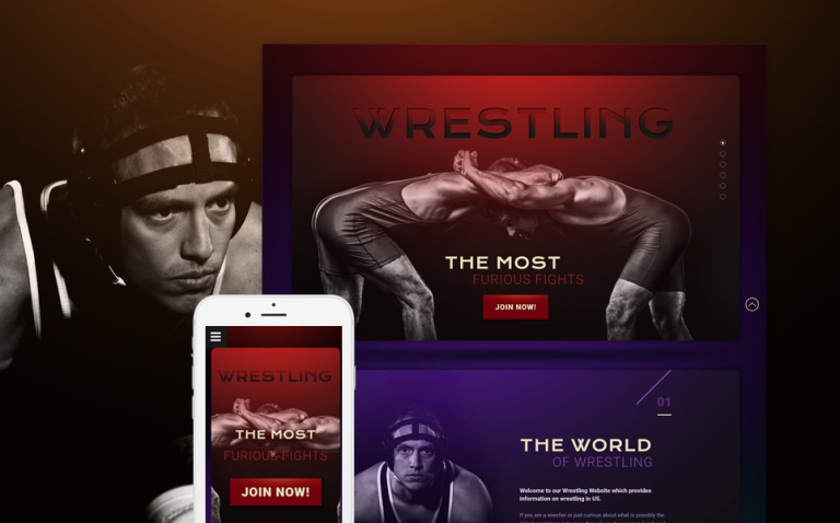 Wrestling Responsive Landing Page Template New Screenshots BIG