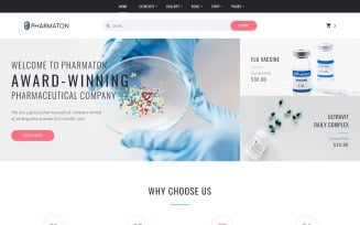 Pharmaton - Drug Store Multipage Modern HTML Template Website Template