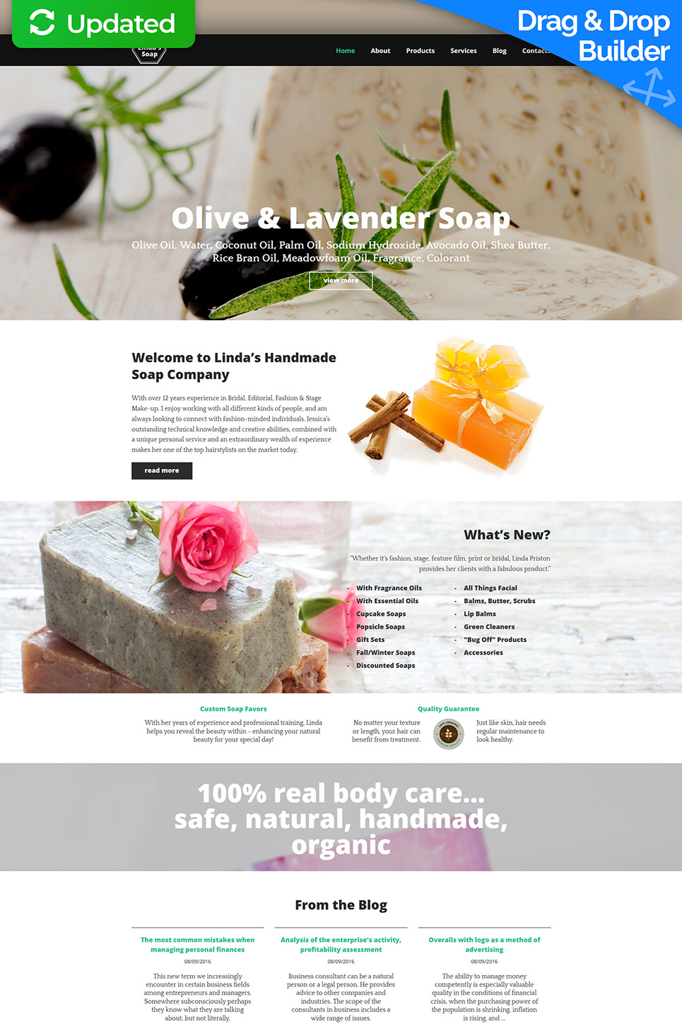 Handmade cleanser manufacturer site theme