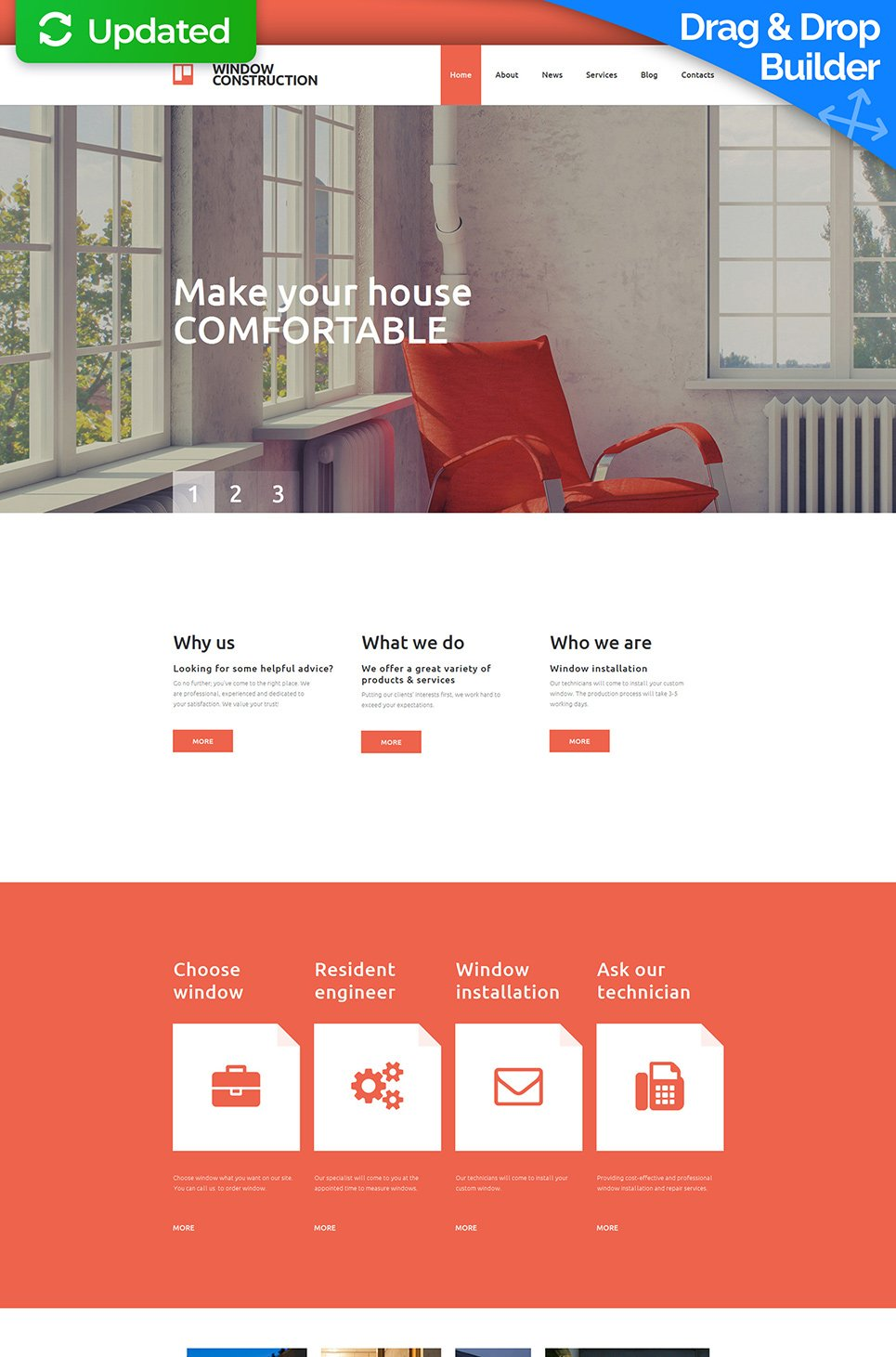 Red and white site theme for designers