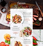 Cafe & Restaurant Moto CMS 3  Template 58610