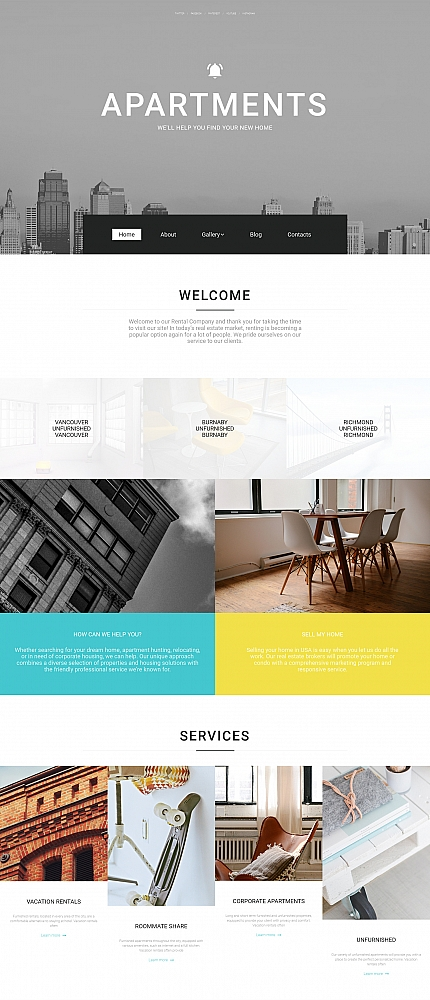 ADOBE Photoshop Template 58612 Home Page Screenshot