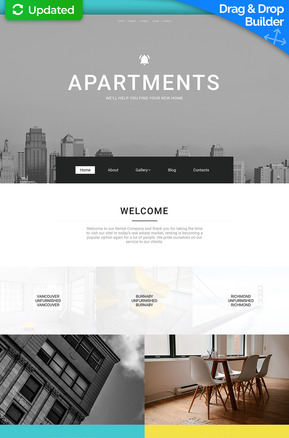 Grey site template for realtors