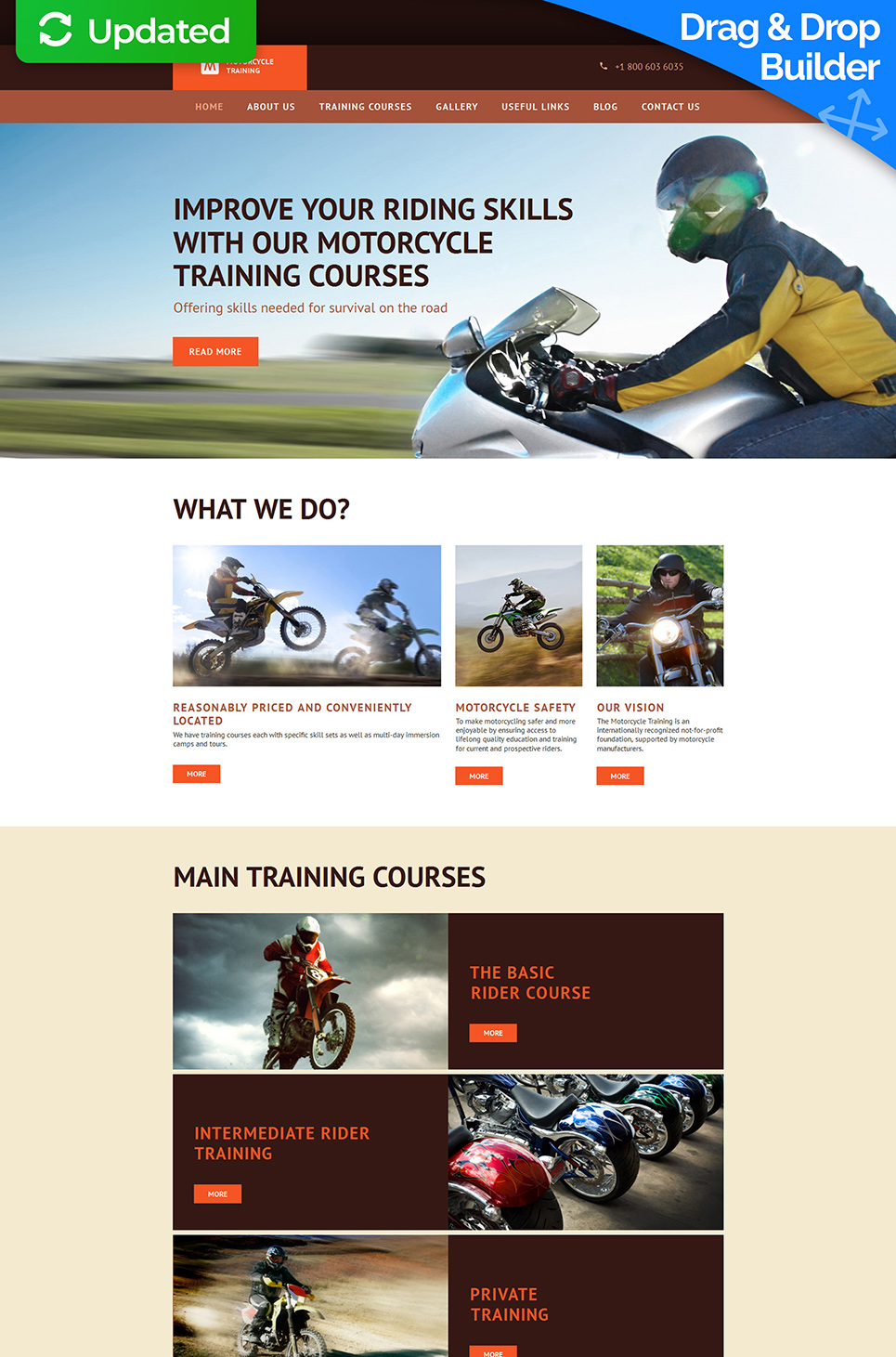 Site theme for automobile training center