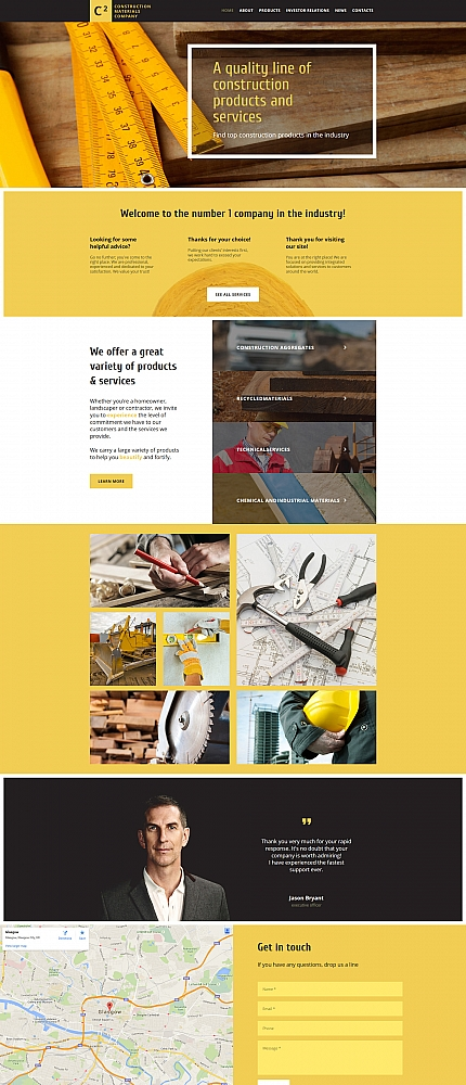 ADOBE Photoshop Template 58617 Home Page Screenshot