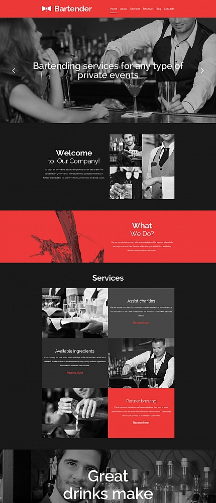ADOBE Photoshop Template 58622 Home Page Screenshot