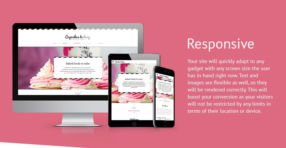 Cupcakes Bakery Website Template