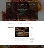 Cafe & Restaurant Website  Template 58628