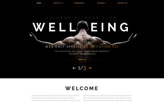 Wellbeing Website Template