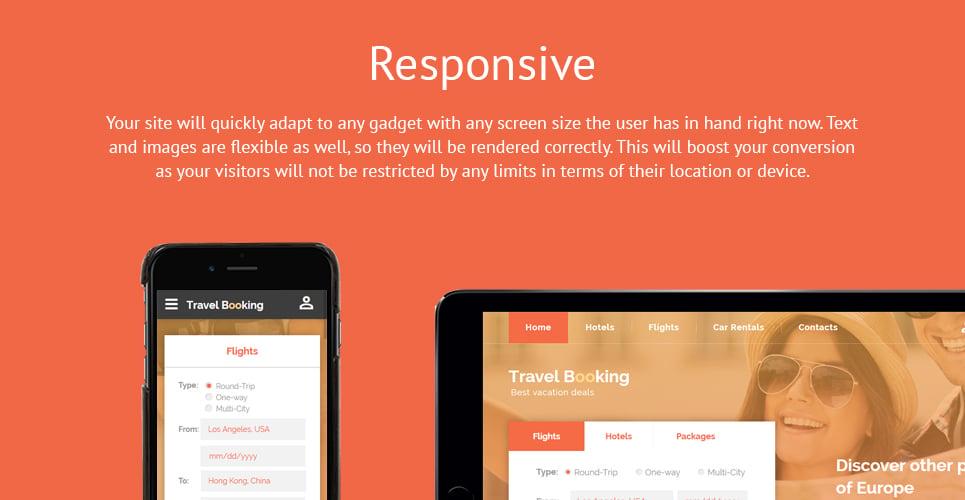 Travel Booking Responsive Website Template