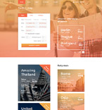 Travel Website  Template 58642