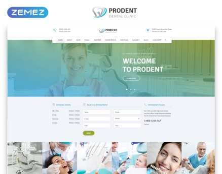 Prodent - Dentistry Multipage Clean Bootstrap HTML Website Template