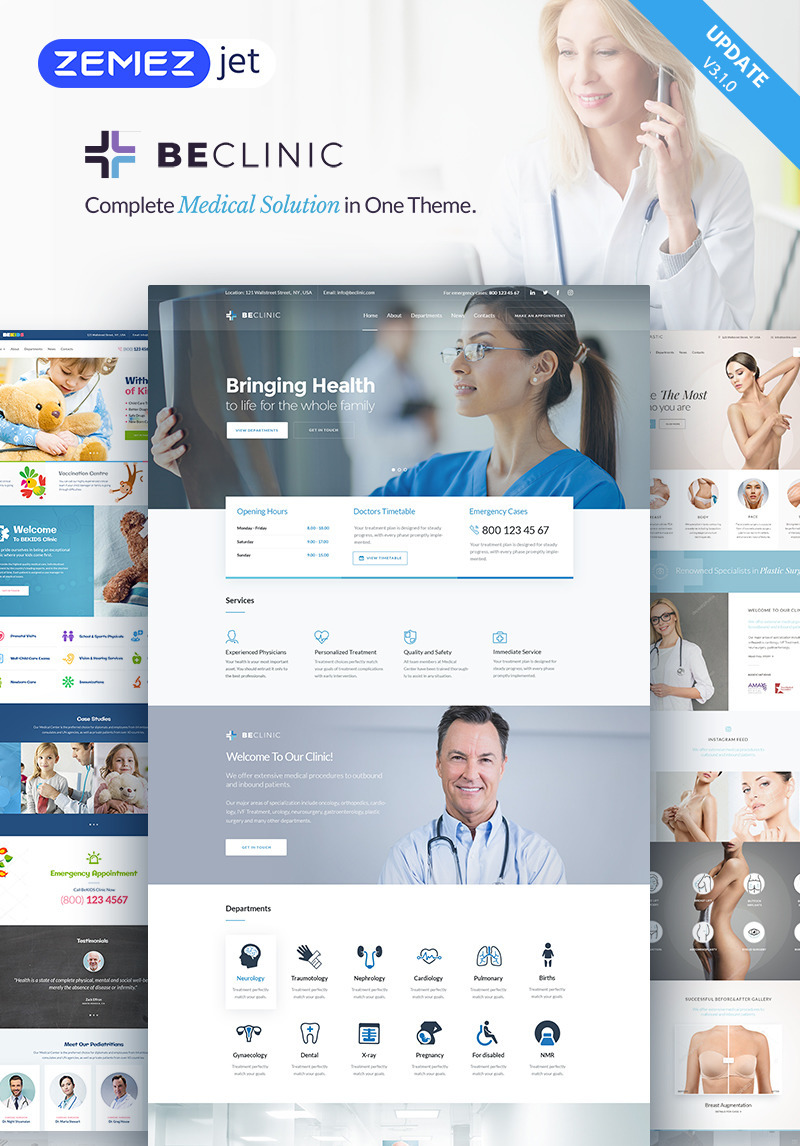 BeClinic - Multipurpose Medical WordPress Theme WordPress Theme 2