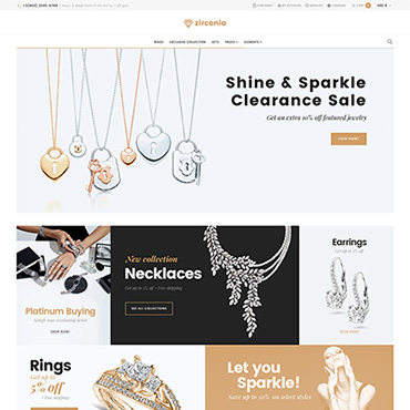 Preview image of Zirconia - Jewelry & Accessories Store Responsive