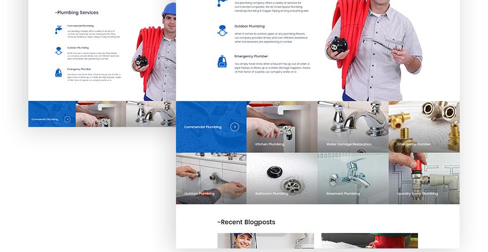 plumbing brochure design plumbing wordpress theme