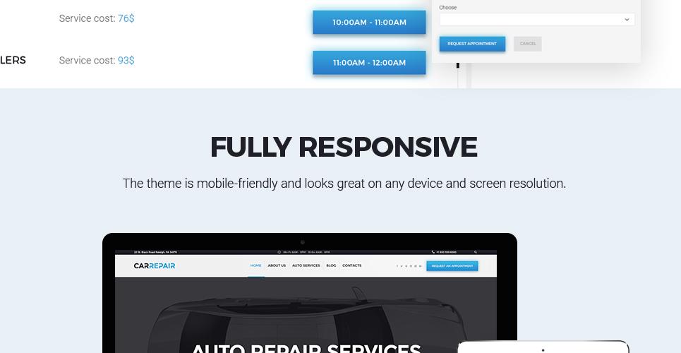 Tema de WordPress #58676 para Sitio de Reparación de coches