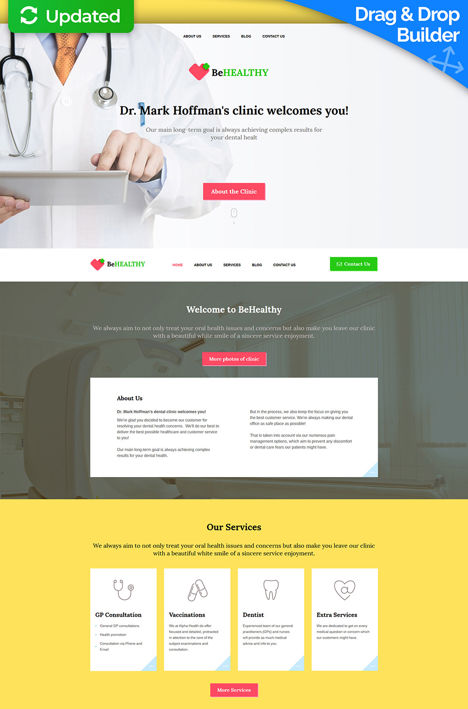 White web theme for doctors