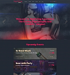 Night Club Moto CMS 3  Template 58684