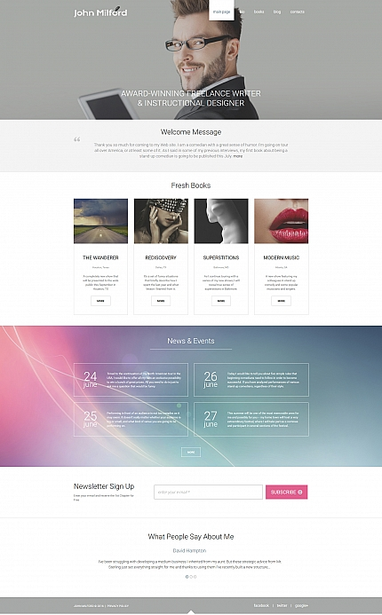 ADOBE Photoshop Template 58694 Home Page Screenshot
