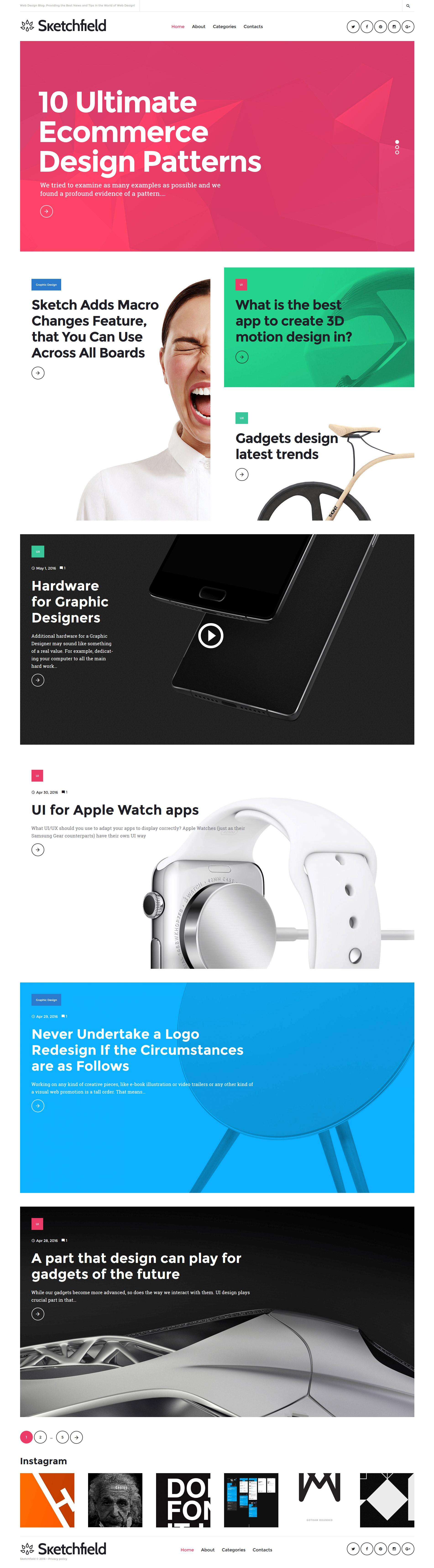 Адаптивный шаблон сайта на тему веб-дизайн #58650