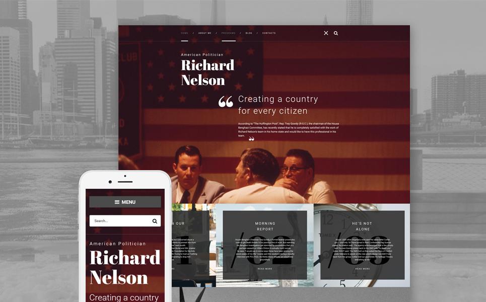 Адаптивный шаблон сайта на тему политический кандидат #58658